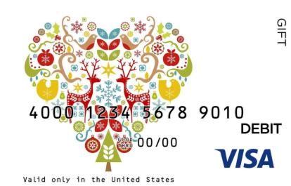 Holiday Spirit Visa Gift Card