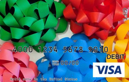 Colorful Bows Visa Gift Card