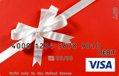 White Satin Bow Visa Gift Card