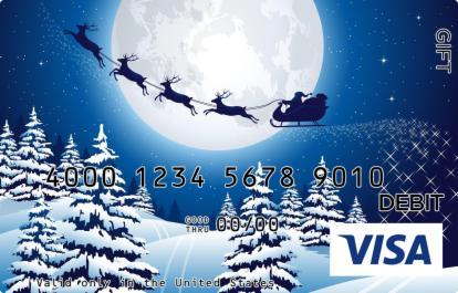 Sleigh Bells in the Night Visa Gift Card