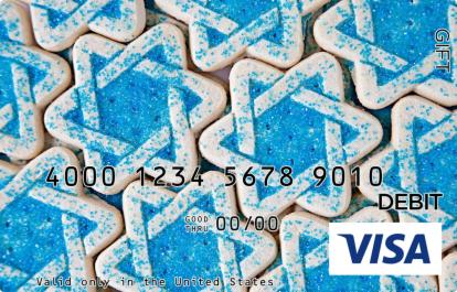 Star of David Cookies Visa Gift Card