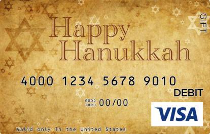 Hanukkah Stars Visa Gift Card