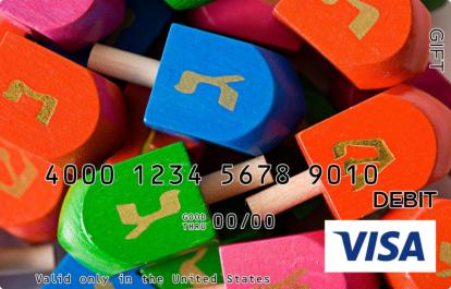 Colorful Dreidels Visa Gift Card