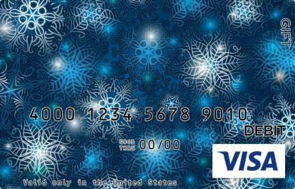 Blue Snowflakes Visa Gift Card