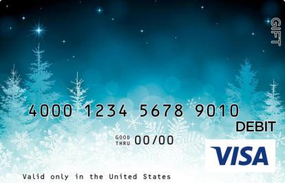 Winter Wonderland Visa Gift Card