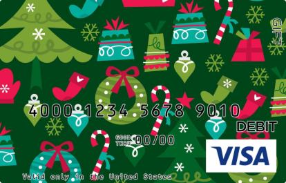 Christmas Wallpaper Visa Gift Card