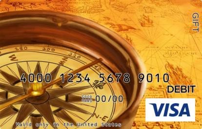 Compass and Map Visa Gift Card