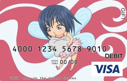 Tooth Fairy Visa Gift Card