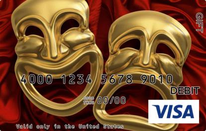 Comedy and Tragedy Visa Gift Card