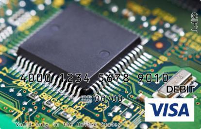 Computer Chip Visa Gift Card