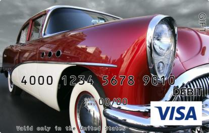 Retro Car Visa Gift Card