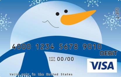 Snowman Visa Gift Card