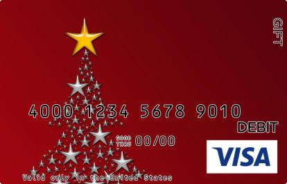Christmas Tree with Star Visa Gift Card