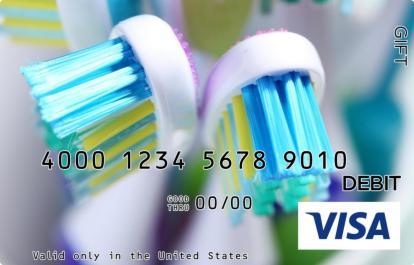 Toothbrush Visa Gift Card