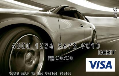 Fast Car Visa Gift Card