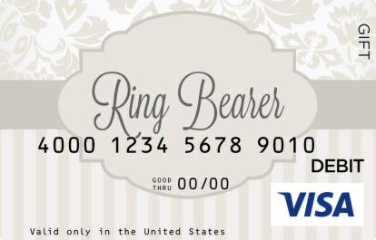 Ring Bearer Visa Gift Card