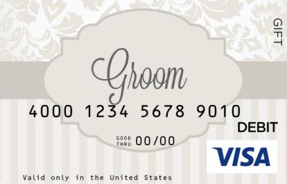 Groom Visa Gift Card