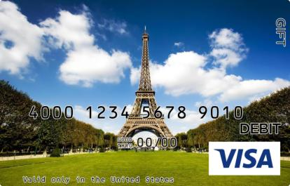 Paris Visa Gift Card