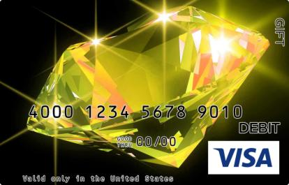 Yellow Diamond Visa Gift Card