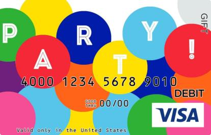 Party Time Visa Gift Card