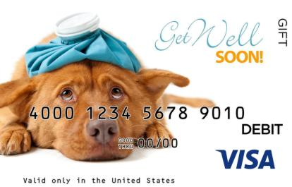 Get Well Soon Puppy Visa Gift Card