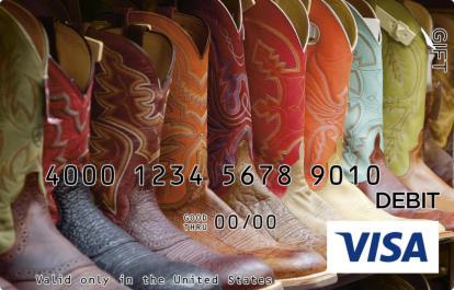 Cowboy Boots Visa Gift Card