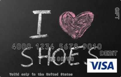 Shoes Visa Gift Card