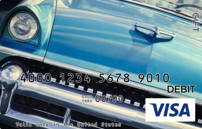 Blue Car Visa Gift Card