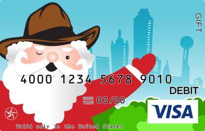 Santa in Dallas Visa Gift Card