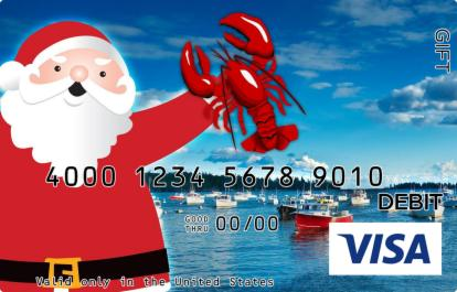 Santa in Maine Visa Gift Card