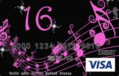 Sixteen Visa Gift Card