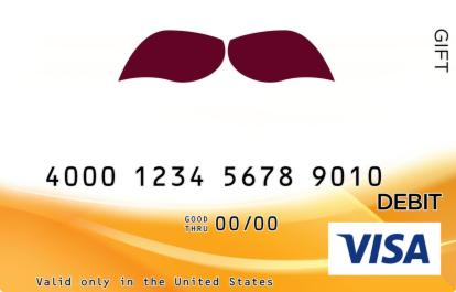 Mustache Visa Gift Card