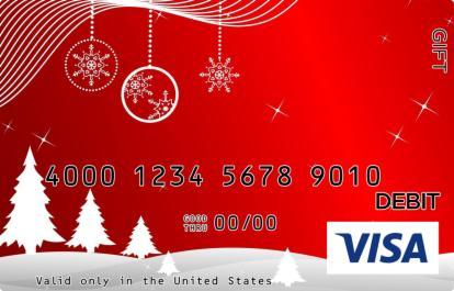 Christmas Scene Visa Gift Card