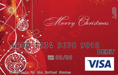 Rudolph Red Christmas Visa Gift Card