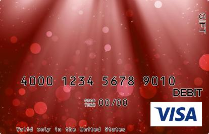 Red Glitter Visa Gift Card