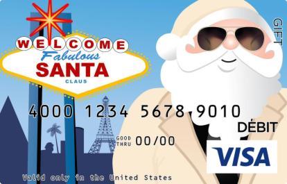 Santa in Las Vegas Visa Gift Card