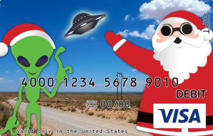 Santa in Roswell Visa Gift Card