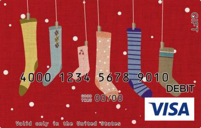 Funky Stockings Visa Gift Card