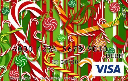 Candy Christmas Visa Gift Card