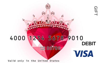 Royal Heart Visa Gift Card