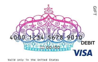 Fancy Crown Visa Gift Card