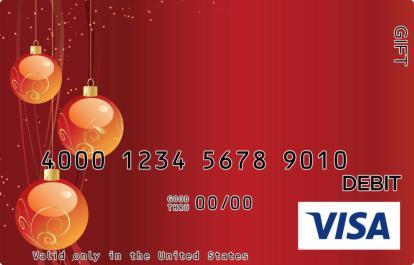 Orange Ornament Visa Gift Card