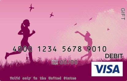 Pink Runner Visa Gift Card