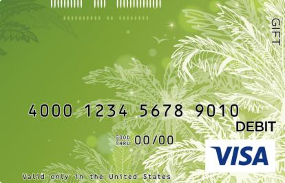Palm Leaves Visa Gift Card