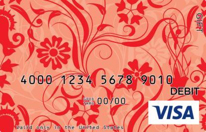 Red Flower Visa Gift Card