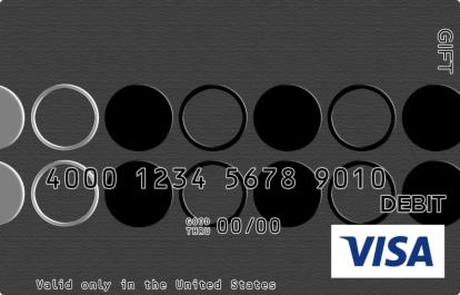 Simple Black and Silver Visa Gift Card
