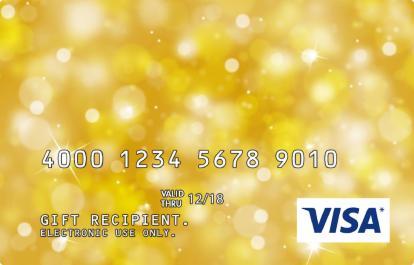 Yellow Sparkle Visa Prepaid Gift Card