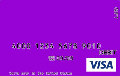 Royal Purple Visa Gift Card