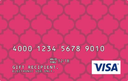 Pink Pattern Design Visa Prepaid Card