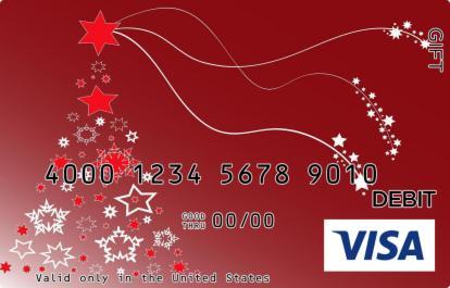 Red Christmas Tree Visa Gift Card